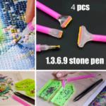 Химикалки за диамантено рисуване (4бр / комплект)